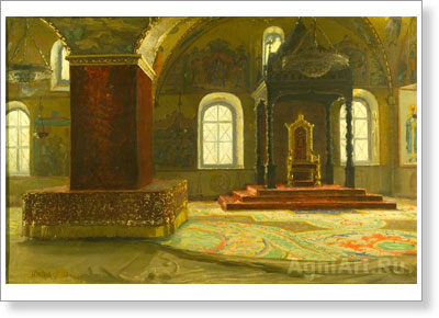 Makovsky Nikolay. The Granovitaya Chamber in the Terem Palace of the Moscow Kremlin. Art print on canvas