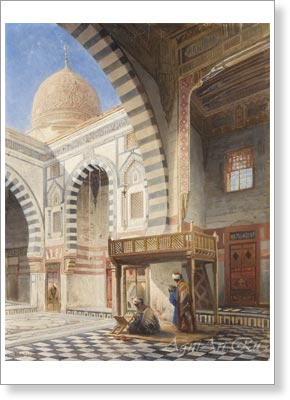 Makovsky Nikolay. Mosque in Cairo. Art print on canvas - paintings, sale of paintings