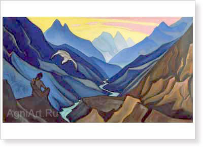 Roerich Nicholas. Command of the Teacher. Fine art print B2