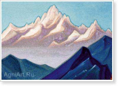 Roerich Nicholas. Himalayas 1943. Art print on canvas