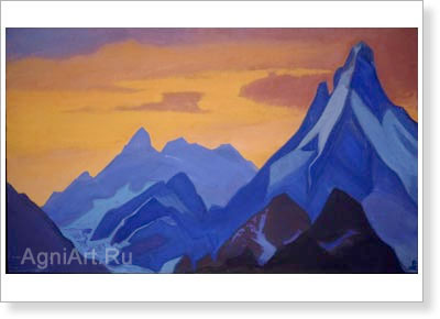 Roerich Nicholas. Evening. Art print on canvas