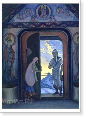 Roerich Nicholas. Messenger. Art print on canvas