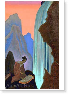 Roerich Nicholas. Song of the Waterfall. Art print on canvas