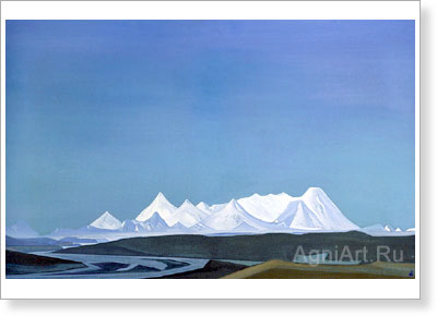 Roerich Nicholas. Greatest and Holiest Thang-La. Fine art print A3