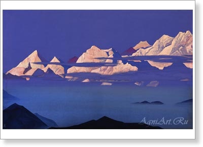 Roerich Nicholas. Himalayas (Kanchenjunga). 1933. Art print on canvas