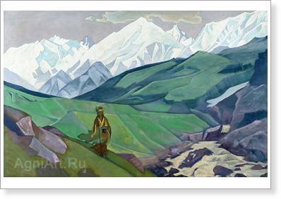 Roerich Nicholas. En-no-Gyoja the Friend of the Travellers. Art print on canvas