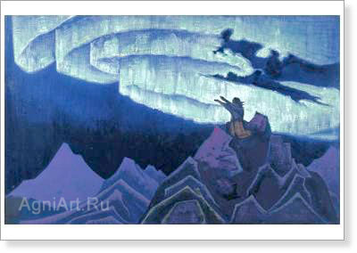 Roerich Nicholas. Moses the Leader. Art print on canvas