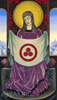 Roerich Nicholas. Madonna Oriflamma. Art print on canvas