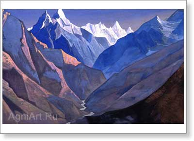 "Roerich Nicholas. Mount ""M"". Art print on canvas"