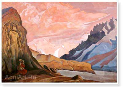 Roerich Nicholas. Maitreya the Conqueror. Art print on canvas - paintings, sale of paintings