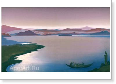 Roerich Nicholas. Lake of Gennesaret. Art print on canvas
