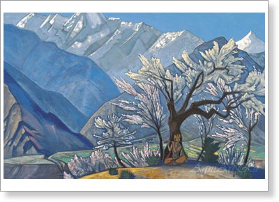 "Roerich Nicholas. Krishna. ""Kullu"" Series. Art print on canvas"