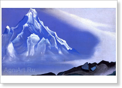 Roerich Nicholas. Silvery Realm. Art print on canvas