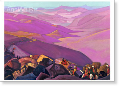 Roerich Nicholas. Mongolia: Campaign of Genghis Khan. Art print on canvas