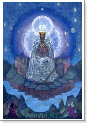 Roerich Nicholas. Mother of the World. Fine art postcard A6