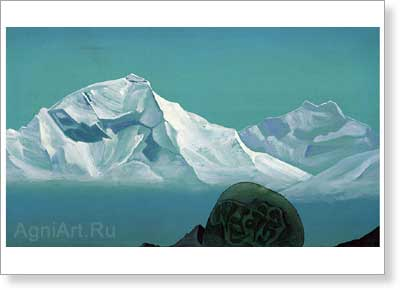 Roerich Nicholas. Path to Kailas 1933. Art print on canvas