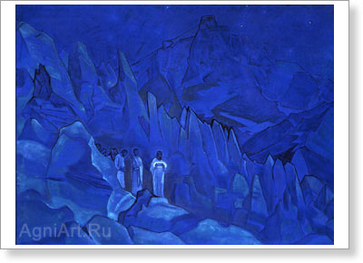 Roerich Nicholas. Burning of Darkness. Art print on canvas