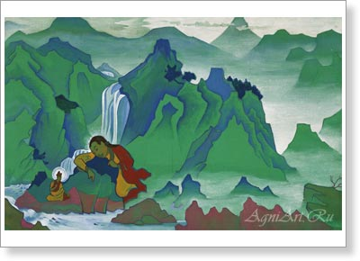 Roerich Nicholas. Padma Sambhava. Art print on canvas - paintings, sale of paintings