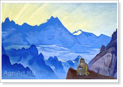 Roerich Nicholas. Milarepa, the One Who Harkened. Art print on canvas