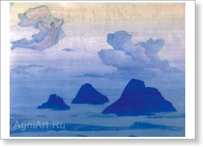 Roerich Nicholas. Higher than the Mountains. Art print on canvas