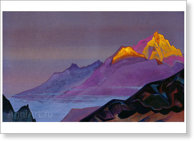 Roerich Nicholas. Path to Shambhala. Art print on canvas