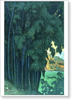 Roerich Nicholas. Ashram. Art print on canvas