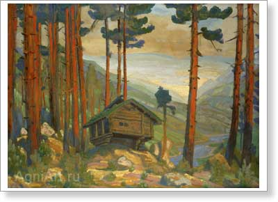 Roerich Nicholas. Solveig's House. Art print on canvas
