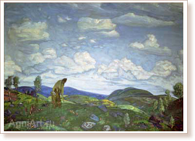 Roerich Nicholas. St. Panteleimon the Healer. Art print on canvas