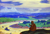 Roerich Nicholas. Procopius the Blessed Prays for the Unknown Travellers. Art print on canvas