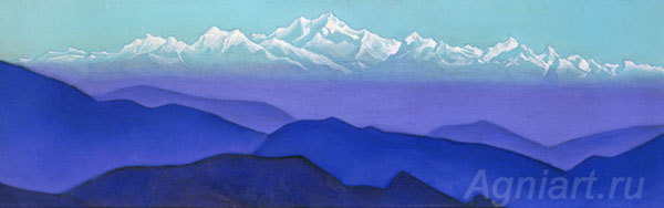 Roerich Nicholas. Glory of the Himalayas. Art print on canvas