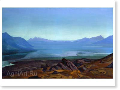 Roerich Nicholas. Dangra Yumtso. Art print on canvas