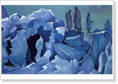 Roerich Nicholas. Watch on the Himalayas. Art print on canvas