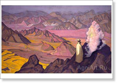 Roerich Nicholas. Mohammed on Mount Hira. Art print on canvas