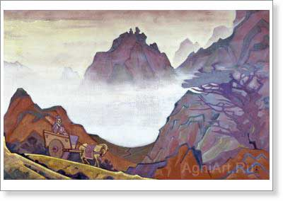 Roerich Nicholas. Confucius the Just One. Art print on canvas