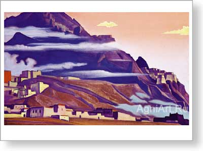 Roerich Nicholas. Shekar Dzong. Art print on canvas