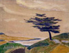 Roerich Nicholas. The Shore. Ledenets. Décor.  Art print on canvas