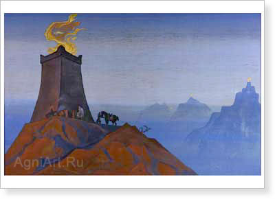Roerich Nicholas. Flowers of Timur (Lights of Victory). Art print on canvas
