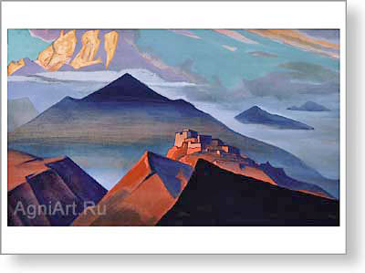Roerich Nicholas. Shatrovaya Mountain (Tent Mountain). Art print on canvas