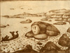 Roerich Nicholas. Giantess Grimgerd. Costume design. Art print on canvas