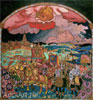 Roerich Nicholas. Conquest of Kazan. Art print on canvas - paintings, sale of paintings