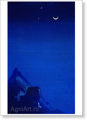 Roerich Nicholas. Conjuration - New Moon. Art print on canvas