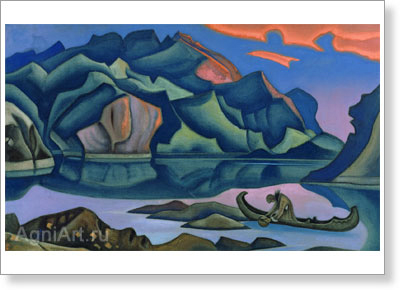Roerich Nicholas. Hidden Treasure. Art print on canvas