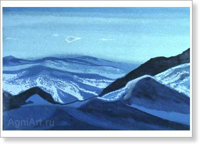 Roerich Nicholas. Mongolia - Pass over Kalgan. Art print on canvas