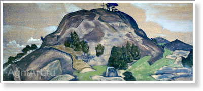 Roerich Nicholas. Lapland Castle. Art print on canvas