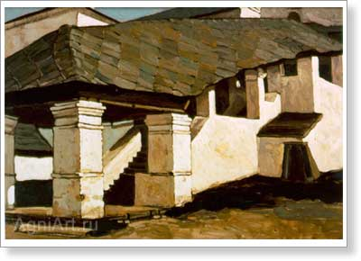 Roerich Nicholas. Smolensk — Porch of the Convent. Art print on canvas