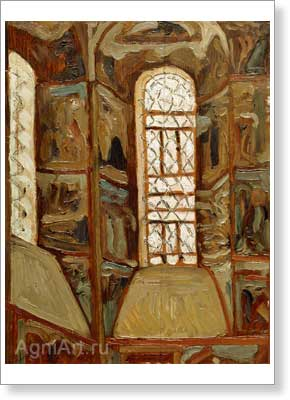 Roerich Nicholas. Yaroslavl — Interior of the Church of the Epiphany. Art print on canvas