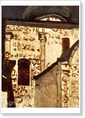 Roerich Nicholas. Yuriev Polsky — St. George's Cathedral. Art print on canvas