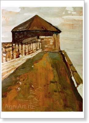 Roerich Nicholas. Nizhni Novgorod — Watch Tower. Art print on canvas