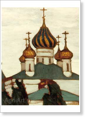 Roerich Nicholas. Yaroslavl — Church of St. Vlasy. Art print on canvas