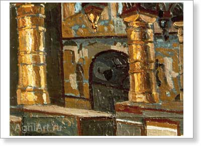 Roerich Nicholas. Rostov the Great -- Interior of the Church. Art print on canvas